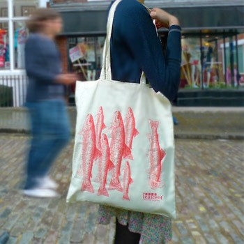Troutie 100% Natural Cotton Tote Bag